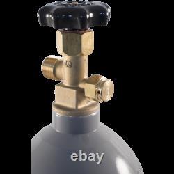 10 lb C O2 Tank Aluminum Air Cylinder Draft Beer Kegerator Welding Wine Homebrew