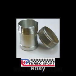 10 x Weld on aluminium alloy filler neck & cap petrol oil header catch tank long