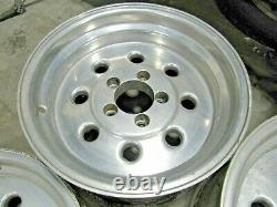 15 Weld Draglite Style Fats & Skinnies Wheels (set Of 4) + Caps Excellent