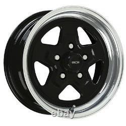 15X10 VISION NITRO BLACK SPORT STAR PRO DRAG RACING WHEEL 5X4.5 1pNO WELD 5.5BS