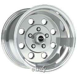 15X10 VISION SPORT LITE PRO DRAG POLISHED RACING WHEEL 5X4.5 4.5BS 1pc NO WELD