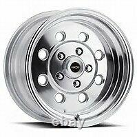 15X8 VISION SPORT LITE PRO DRAG POLISHED RACING WHEEL 5X4.75 5.5 BS 1pc NO WELD