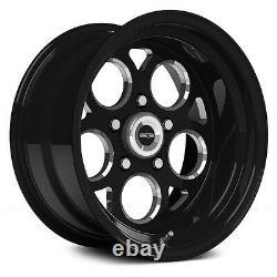 15x10 Vision Sport Mag Black Magnum Ssr Drag Racing Wheel 5x4.5 No Weld 5.5bs