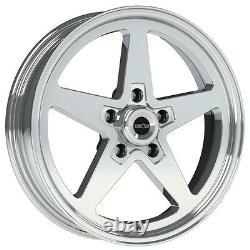 15x8 Vision Sport Star II Alumastar Pro Drag Race Star Wheel 5x4.5 No Weld 5.5b