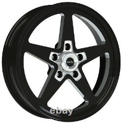 17x4.5 Vision Sport Star II Black Alumastar Pro Drag Race Wheel 5x115 No Weld