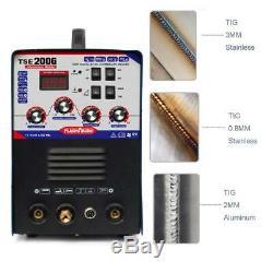 2 In 1 Aluminum-200A TIG Welder Digital Display Stick ARC AC DC Inverter Welding
