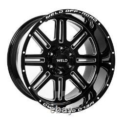 20x10 Weld Racing Truck Off-road Chasm Gloss Black Wheel 6x135 & 6x5.5 +13mm