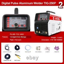 220V 200AMP with AC DC Pulse TIG Welder 2T 4T MMA Aluminum Welding Machine