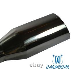 2X a set Truck Exhaust Tip 2.5 Inlet 4 Outlet 9 Long Stainless Steel Weld On
