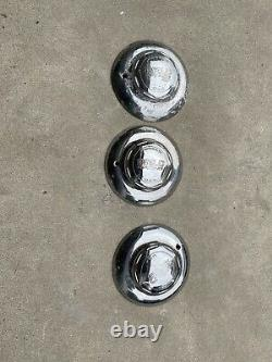 3 WELD RACING FORGED USA aluminum center cap 7-1/2 diameter