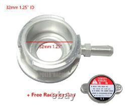 32mm 1.25 ID Aluminum Radiator Weld On Filler Neck With 1 Radiator Cap