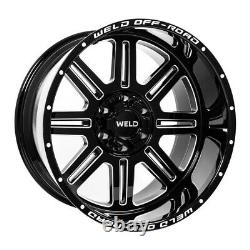 4 20x10 Weld Racing Truck Off-road Chasm Black Wheels Set 6x135 & 6x5.5 +13mm