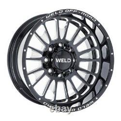 4 20x10 Weld Racing Truck Off-road Scorch Black Wheels Set 6x135 & 6x5.5 -18mm