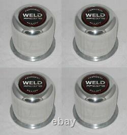 4 Forged Weld Racing Alloy 605-5083 Wheel Rim Center Caps Fits 3.175 Dia Bore