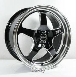 4pcs WELD RACING 15inch 7JJ 4X100 ET33 Alloy wheels Cheap car rims BLACK 5900-7