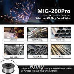 5 in 1 200Amp 110V 220V MIG-200 PRO Aluminum MIG Welder TIG MIG Welding Machine