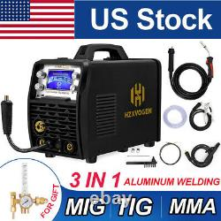 5-in1 MIG TIG Stick Welder 110/220V Gas Gasless Welding Machine Weld Aluminum