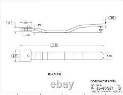 83.50 Aluminum Welded Cargo Side Rear Door Cam Bar Lock Latch Assembly Trailer