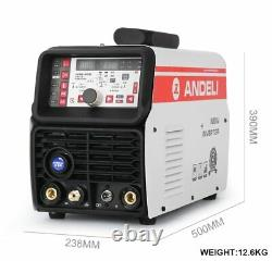 ANDELI TIG-250PL AC DC TIG Welder Pulse Cold Welding Machine with Aluminum Alloy
