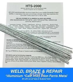 Aluminium Alloy Brazing Rods Easy Simple Welding Soldering Repair Cast HTS2000