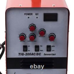 Aluminum 200Amp TIG Welder Display AC DC Inverter Welding Soldering Machine 220V