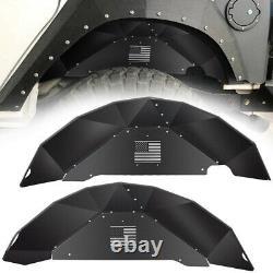 Aluminum US Rear Inner Fender Liner Wheel Well Flare Guards For Jeep Wrangler JK