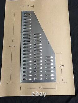 Bolt-On Aluminum Hood Louver Panel Set Cooling Vent Pair With Hardware Kit