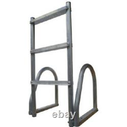 Dock Edge 2173-F Aluminum 3-Step Eco Flip-Up Ladder Weld Free