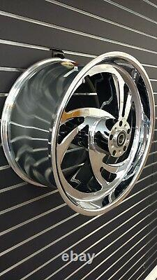 For HARLEY SLASH Chrome CNC BILLET Aluminum Alloy Wide WHEEL 18 x 10