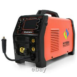 HITBOX 110V/220V MIG/TIG/Stick Arc 4-IN-1 Combo Welder Weld Aluminum MIG200PRO
