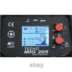 IDEAL PRAKTIK TECNO MIG 205 LCD MIG/TIG/MMA SYNERGIC Inverter welding machine