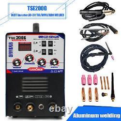 IGBT Inverter AC DC Welding Machine TIG/MMA Aluminum Welder 2T / 4T 220V DIY