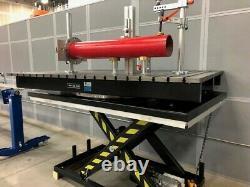 KEMPER Rotating Scissor Lift Welding Table with T-slot Top Aluminum TSlot Rails