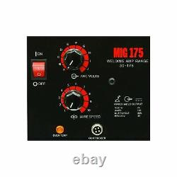LOTOS MIG175 175AMP Mig Welder Free Spool Gun Mask Aluminum Welding Wires New