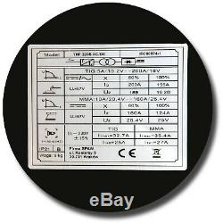 MAGNUM TIG AC/DC HF Inverter Welder 200A PULSE Welding machine Aluminium INOX