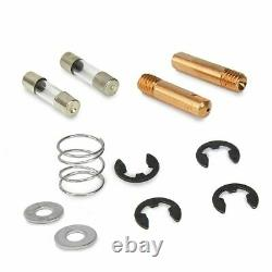 MIG 195 Amp 220v Welder Flux Stainless Aluminum Welding Machine Gas / No Gas