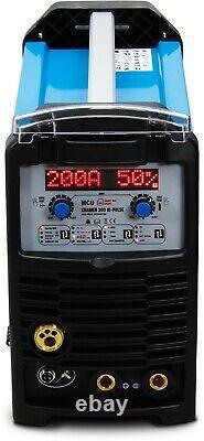 MIG/MAG 4in1 Inverter Welder 200A Synergy Welding machine TIG BI-PULSE ALUMINIUM