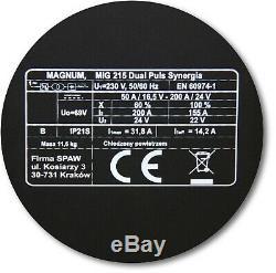 MIG/MAG SYNERGIA DUAL PULSE Inverter Welder 200A Welding machine MMA Aluminium