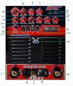 MIG TIG PLASMA ARC WELD PRO 250 AC/DC, pulse sq wave, MIG ALUMINUM, SS, STEEL
