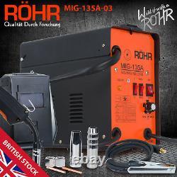 MIG Welder Gasless Inverter 240V / 135 amp / AC No-Gas Welding Machine ROHR 03