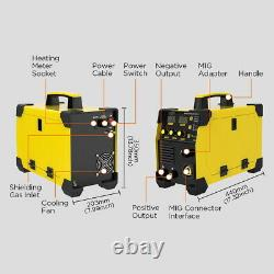 MIG Welding Machine Gas-less Flux Core Wire No Gas Inverter Welder 110V 160V