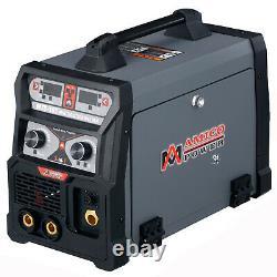MTS-165 165 Amp 3-in-1 MIG/TIG/Stick Arc Combo Welder, MIG-Weld Aluminum