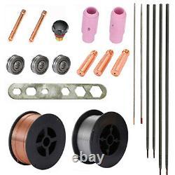 MTS-165 Amp 3-in-1 MIG TIG Stick Combo Welder, Weld Aluminum 110/230V Welding