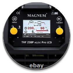 Magnum TIG AC/DC PULSE LCD Inverter 200Amp Welding machine Aluminium Stainless