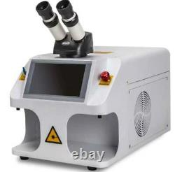 Mini desktop 60W Jewelry welding machine with microscope for rings gold silver