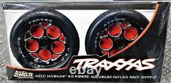 NIB Traxxas RC Funny Car Drag Slicks and Weld Replica Aluminum Front Wheels