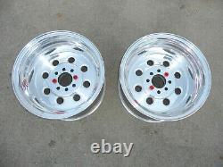 NOS Pair of Rear 15 x 10 Weld Racing Sport Forged Draglite Wheels Mustang 4 Lug