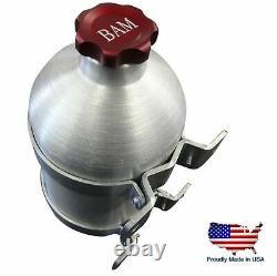 No Welds or Seams! 5.5 x 12 Spun Aluminum Vertical Gas Tank. 8 Gal red cap