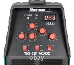 Sherman TIG 201 AC/DC 200A Inverter Welder AC 50Hz ARC MMA HF Aluminium Welding