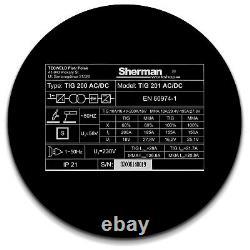 Sherman TIG Welder AC/DC 200AMP Welding inverter machine ARC HF Aluminium INOX